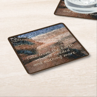 Southwest Native American Earth Coasters