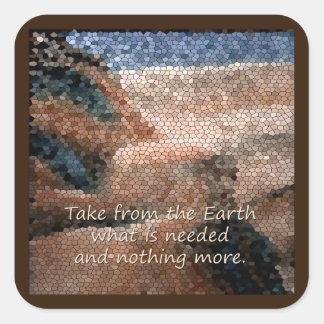 Southwest Native American Earth Qoute Sticker