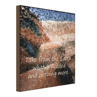 Southwest Native American Earth Quote Canvas