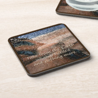 Southwest Native American Earth Quote Plastic Drink Coaster