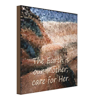 Southwest Native American Mother Earth Canvas