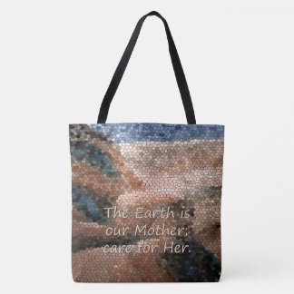 Southwest Native American Mother Earth Quote Tote