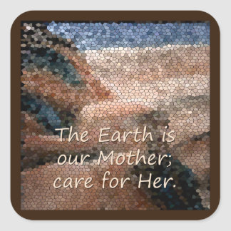 Southwest Native American Mother Earth Sticker