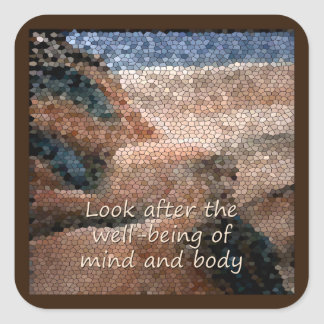 Southwest Native American Well Being Qoute Sticker