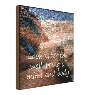 Southwest Native American Well Being Quote Canvas Canvas Print