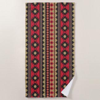 Southwest navajo aztec pattern beach towel