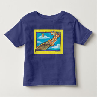Southwest Orange Lizard Butterfly T Shirt Humorous
