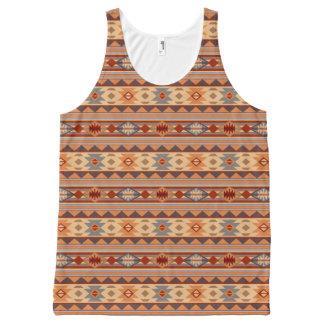Southwest Pattern Design Tan All-Over Print Tank Top