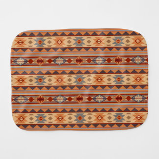 Southwest Pattern Design Tan Baby Burp Cloth