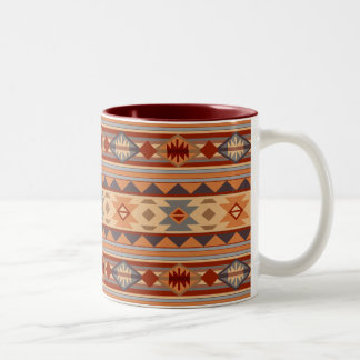 Southwest Pattern Design Tan Two-Tone Coffee Mug