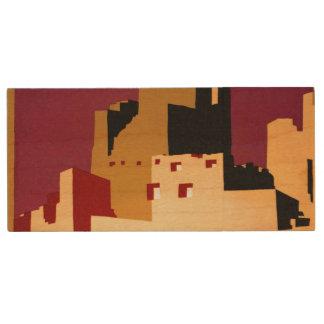 Southwest Pueblos WPA National Parks Poster Wood USB 2.0 Flash Drive
