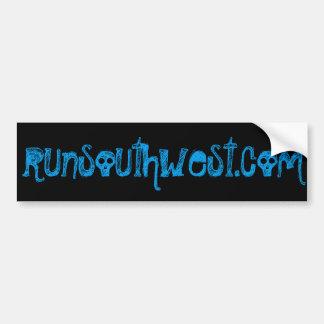 Southwest Skeleton Skull Running Bumper Sticker