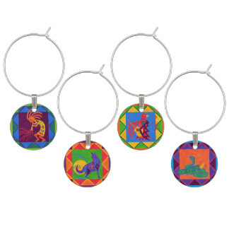 Southwest Song Wine Charms