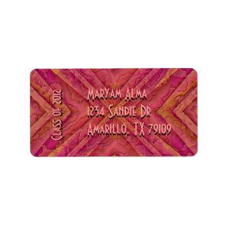 Southwest Style Class of 2012 Graduation Label Address Label
