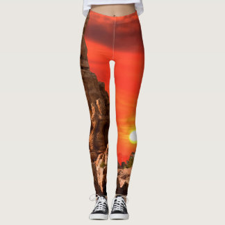 Southwest sunset legs leggings