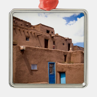 Southwest Taos Adobe Pueblo House New Mexico Christmas Ornament