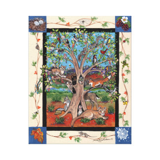 """Southwest Tree of Life"" Four Seasons Canvas Print"