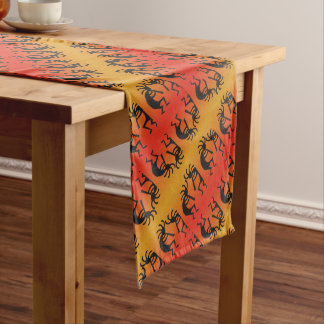 Southwest Tribal Pattern Kokopelli Design Long Table Runner