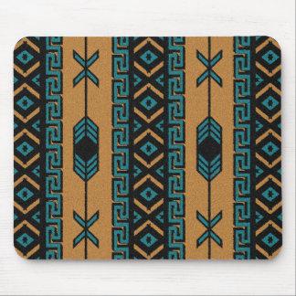 Southwest Turquoise  Aztec Pattern Mouse Mat
