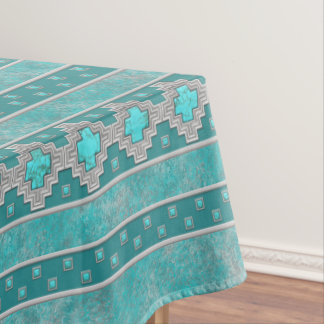 Southwest Turquoise Tablecloth
