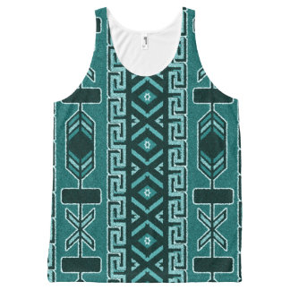 Southwest Turquoise Tribal Aztec Pattern Tank Top