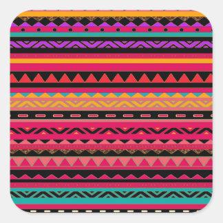 Southwestern Aztec Colorful Pattern Stickers