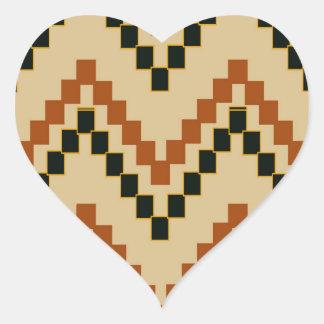 Southwestern Block Chevron Heart Sticker