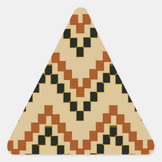 Southwestern Block Chevron Triangle Sticker