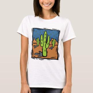 Southwestern Cactus Design Art T-shirt