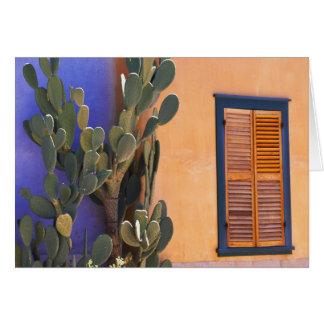 Southwestern Cactus (Opuntia dejecta) and Card