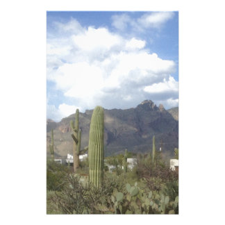 southwestern desert foothills personalised stationery