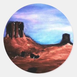 Southwestern Desert Classic Round Sticker
