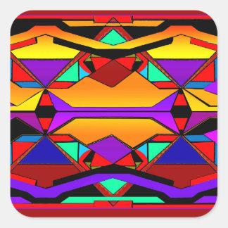 southwestern design 88 square stickers