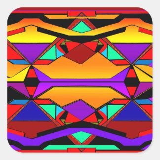 southwestern design 88 square sticker