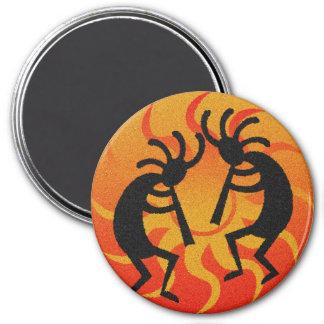 Southwestern Design Tribal Sun Kokopelli Magnet