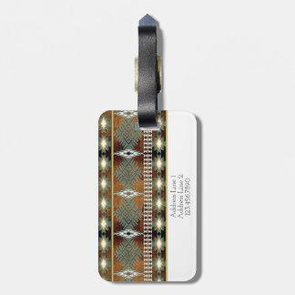southwestern ethnic navaio tribal pattern luggage tag