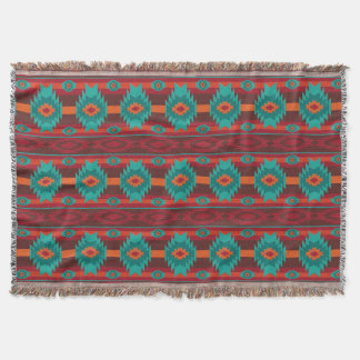 southwestern ethnic navaio tribal pattern throw blanket