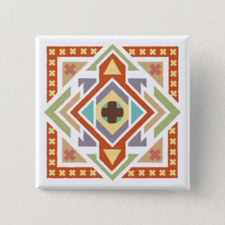 Southwestern Ethnic Tribal Pattern 15 Cm Square Badge