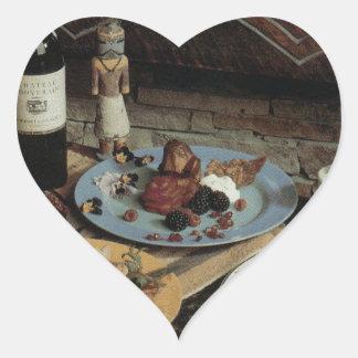 Southwestern Food Art Heart Sticker