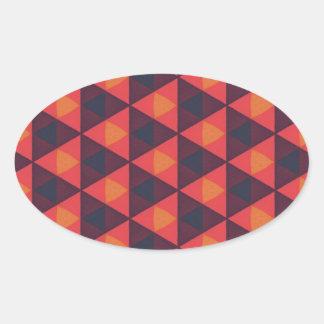 Southwestern Geometric Muted Series #2 Oval Sticker