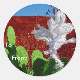 Southwestern Gift Tag Round Sticker