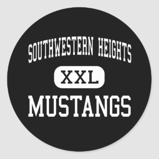 Southwestern Heights - Mustangs - High - Kismet Round Stickers