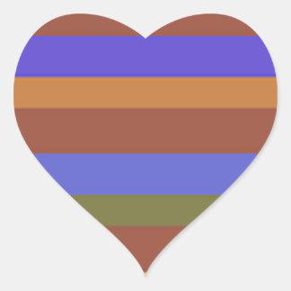 Southwestern Horizontal Stripes Heart Sticker