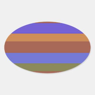 Southwestern Horizontal Stripes Oval Sticker
