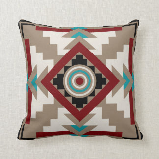 Southwestern Inspired Earth Tones Throw Pillow