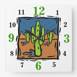 Southwestern Landscape Clock With Numbers
