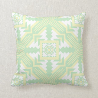 Southwestern Large Print Green and Yellow Cushion