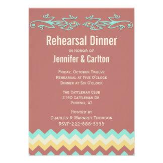 Southwestern Lizards Wedding Rehearsal Dinner Personalized Invitation