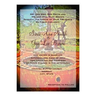 Southwestern Mexican Fountain Wedding Invitation