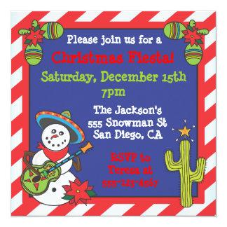Southwestern Mexican Snowman Feliz Navidad Card